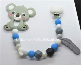 Speelkoord Koala grijs/blauw